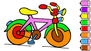 bicycle coloring page how to draw bicycle coloring book youtube