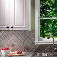 fasade kitchen backsplash panels picture of fasade backsplash quilted in brushed nickel