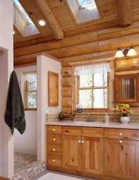 i like the rock wood white mix light but still cabin feel cabin