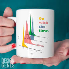 flow cytometry mug go with the flow lab tech gift designgenes