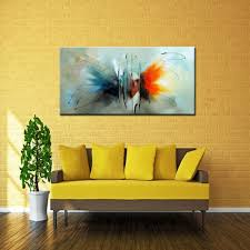 Butterfly Home Decor Mintura Abstract Butterfly Modern Canvas Oil Painting 82 75