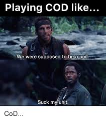Playing Cod Text Memes Com - playing cod like we were supposed to be a unit suck my unit cod