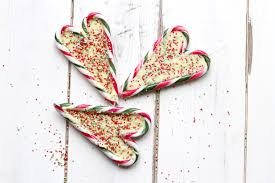 candy cane hearts with white chocolate centres homemade gift for