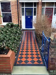 garden mosaic ideas victorian front garden design london black and white victorian