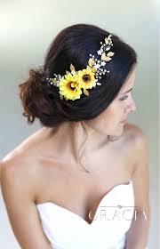 sunflower headband hypatia yellow sunflower bridal headpiece fall wedding flower
