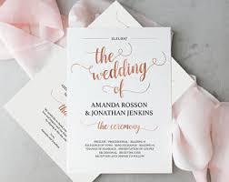 wedding program template greenery wedding program wedding
