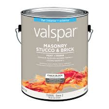shop valspar masonry stucco and brick flat latex interior exterior