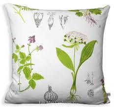 Sofa Cushion Cover Designs Ikea Dorothy Flowers Green White Designer Fabric Sofa Cushion