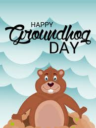 groundhog day cards yay it s cloudy groundhog day card birthday greeting cards by