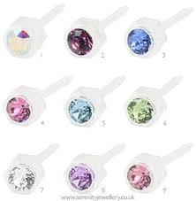 earing studs hypoallergenic blomdahl plastic stud earrings