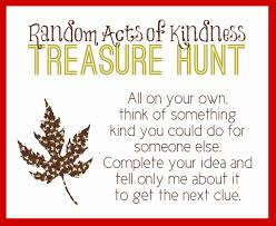 capital b random acts of kindness treasure hunt