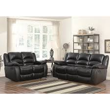 Brown Leather Recliner Sofa Abbyson Brownstone Top Grain Leather Reclining 2 Piece Living Room
