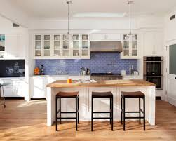backsplash for kitchen with white cabinet blue backsplash houzz