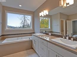 contemporary master bathroom with high ceiling u0026 european cabinets