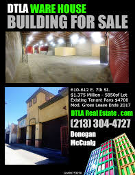 commercial real estate for sale downtown los angeles warehouse