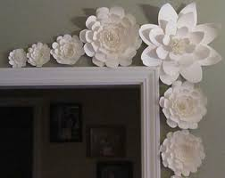 weddings large paper flowers in the colors of your by mcfunk90