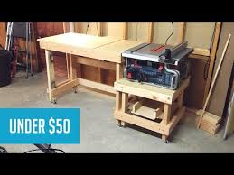 how to build a table saw workstation mobile tablesaw station part 1 youtube