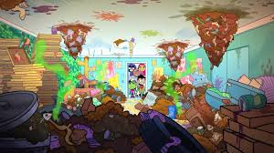 image beast boys room garbage png teen titans go wiki