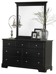 Black Dresser And Nightstand Homelegance Morelle Dresser With Mirror In Black Traditional