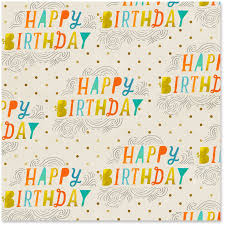 yellow wrapping paper happy birthday gold dots wrapping paper roll 22 5 sq ft