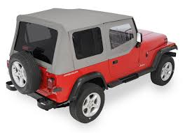 jeep wrangler 88 quadratop replacement top with doors tinted rear