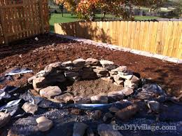 Backyard Fire Pit Diy by Building A Stacked Stone Fire Pit The Diy Village