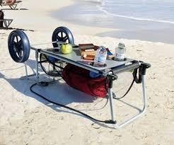 rio folding beach table the wonder cart table beach cart dudeiwantthat com