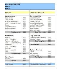 Balance Sheet Template Excel Free 41 Free Balance Sheet Templates Exles Free Template Downloads
