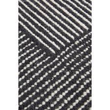 White Rug Stripe Rug Rectagular White Black Tom Dixon Horne