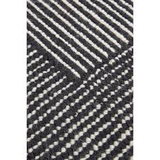 Grey Striped Rug Stripe Rug Rectagular White Black Tom Dixon Horne