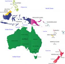 map of australia and oceania countries and capitals map of australia and oceania with countries and capitals