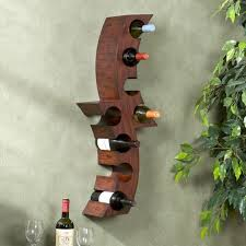 harper blvd wall mounted curved wine storage rack free shipping
