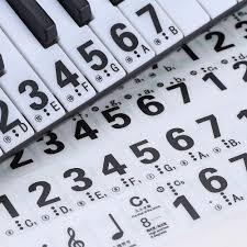 Piano Key Notes 2017 Wholesale Piano Keyboard Sticker Transparent 49 61 Key