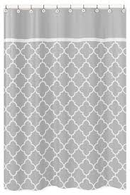 sweet jojo designs white and grey hotel shower curtain grey and