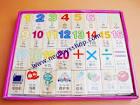 b030 บล็อกไม้ รูปภาพ ตัวเลข ภาษาจีน ภาษาอังกฤษ ใช้เป็นสื่อการเรียน ...