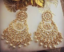 danglers earrings design buy white pearl kundan danglers drops online