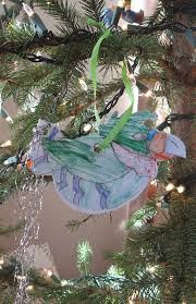 almost unschoolers tinsel tail bird ornament craft christmas in