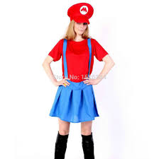 free shipping super mario cosplay costume kits for kids boys girls