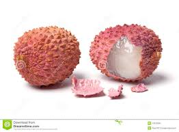 lychee fruit candy lychee with a broken shell stock image image of pulp 12616063