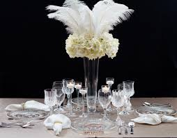 great gatsby centerpieces roaring 20s great gatsby inspired feather wedding centerpiece