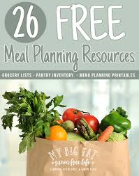printable vegetable planner 26 free meal planning resources