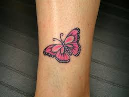 Small Butterfly Tattoos On - small butterfly tattoos pink butterfly by slabzzz