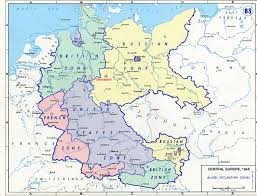 map germany austria map of germany 1945 major tourist attractions maps