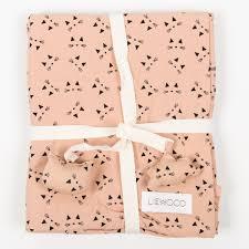 liewood u201cingeborg cat u201d rose bed linen with cat print for kids