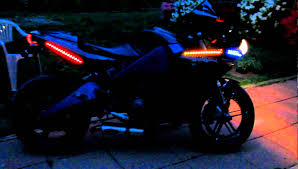 Led Strobe Light Strips smd light strips to increase motorcycle visibility youtube