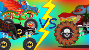 monster truck youtube videos for kids scary monster trucks batman truck superman truck monster