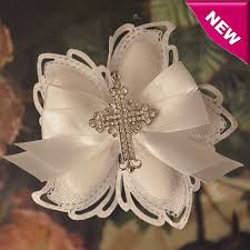 italian favors italian confetti flower favors with pendant rhinestones cross