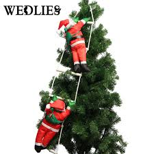 40cm climbing santa claus with rope ladder outdoor tree