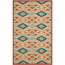 Safavieh Outdoor Rugs Safavieh Four Seasons Natural Blue 5 Ft X 8 Ft Indoor Outdoor