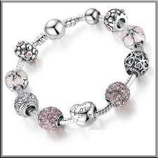 pandora style bracelet sterling silver images 925 sterling silver charm pandora style bracelet lux direct jpg